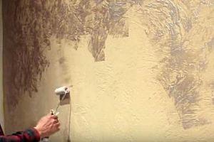 Декоративная штукатурка стен своими руками - обзор основных техник