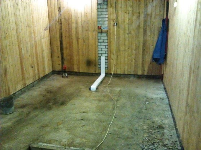 Дизайн гаража-мастерской с полом из эпоксидки и крашеными стенами из вагонки