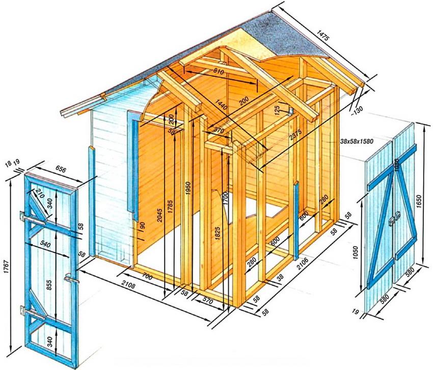 Хозблок для дачи как необходимое многофункциональное строение