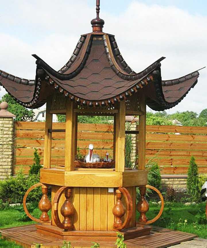 Красивые домики для колодца - идеи и варианты применения в ландшафтном дизайне (115 фото)