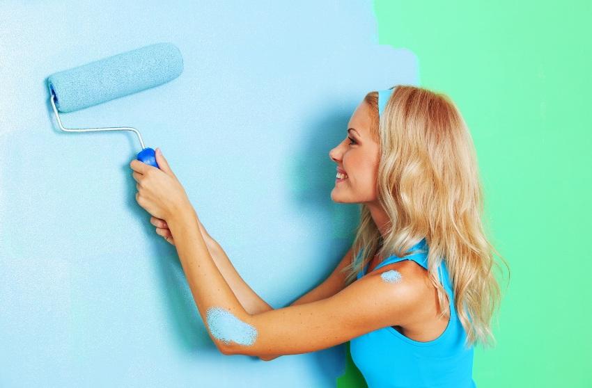 Краска для обоев под покраску и особенности ее применения