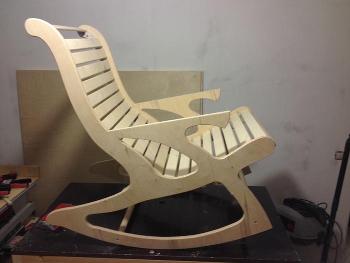 Кресло-качалка своими руками из фанеры - идеи + 2 мастер-класса!