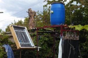 Летний душ своими руками с солнечным коллектором - пошаговая инструкция с разбором ошибок