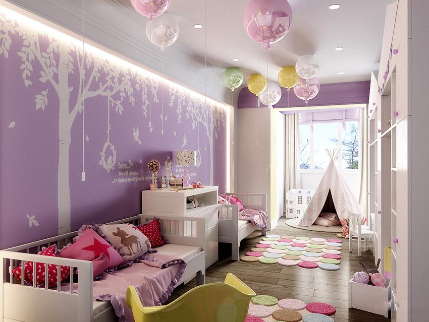 Люстра в детскую комнату: способ освещения и предмет интерьера