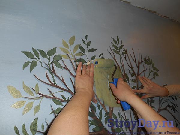 Мастер класс - трафаретная роспись стен своими руками фото и видео