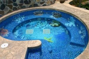 Мозаика для бассейна: укладка мозаичной керамической плитки, фото
