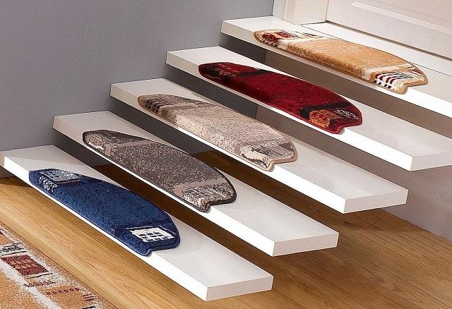 Накладки на ступени лестницы из ковролина: виды и критерии выбора