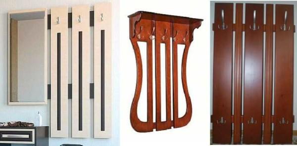 Настенные вешалки для прихожей, коридора: фото, деревянные, металлические, кованные