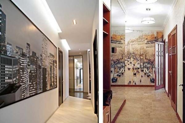 Обои для коридора: выбор, комбинирование, фото