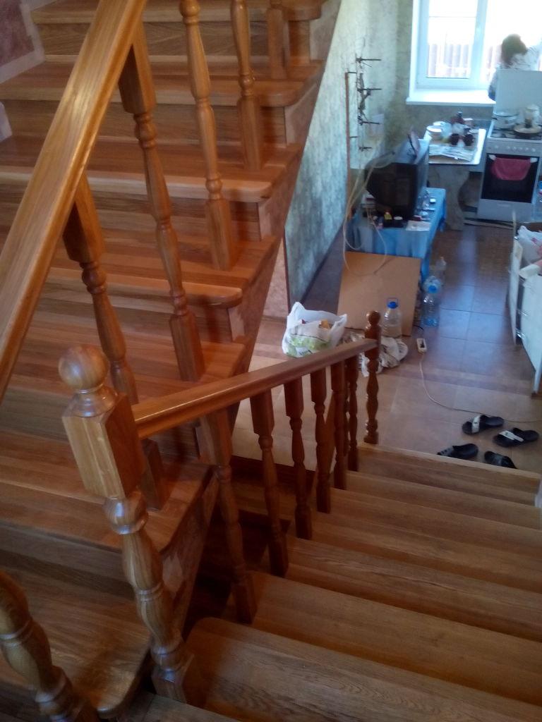 Отделка бетонной лестницы деревом своими руками - инструкция