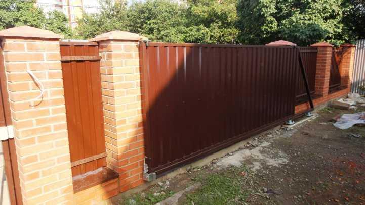 Откатные ворота своими руками - 135 фото и видео описание как сделать откатные ворота