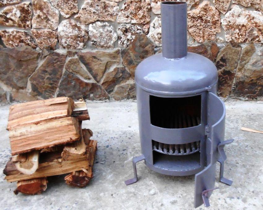 Печка из бочки: простой вариант организации отопления в подсобных помещениях