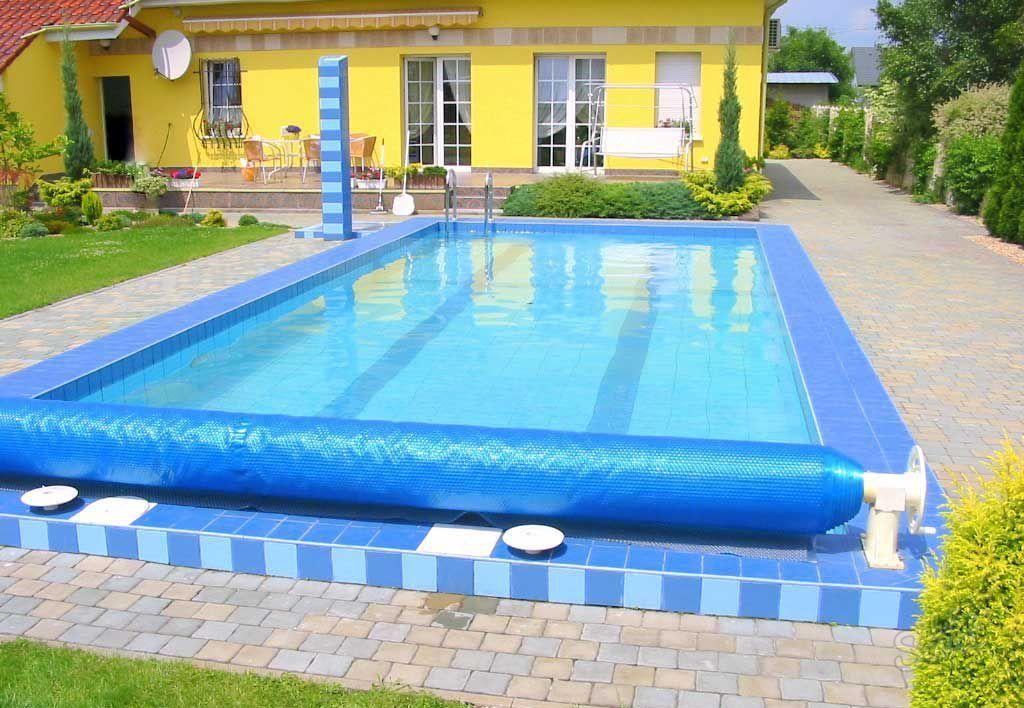 Покрывало для бассейна плавающее пузырьковое:практичная пленка для водоемов, видео и фото