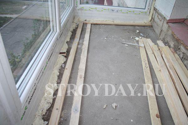Пол на балконе - пошаговая инструкция монтажа и утепления своими руками