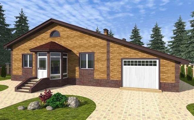Проекты одноэтажных домов с гаражом: выбираем лучшее
