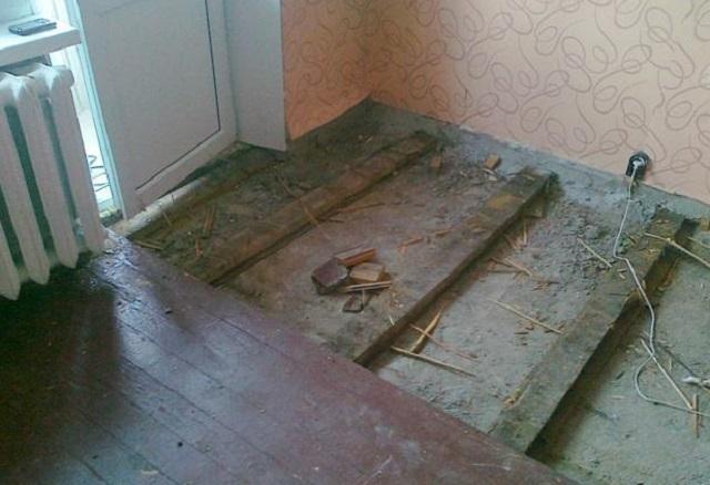 Ремонт полов в хрущевке - делаем ремонт старого деревянного пола своими руками