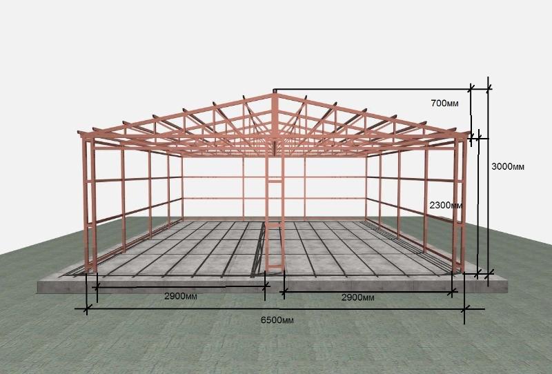 Сборка и установка металлического гаража - определение веса
