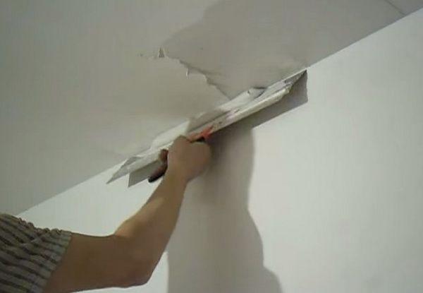 Шпаклевка потолка своими руками - пошаговая инструкция!