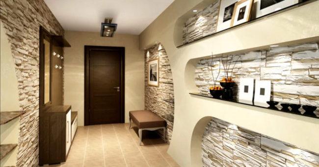 Современные варианты отделки стен в коридоре и прихожей