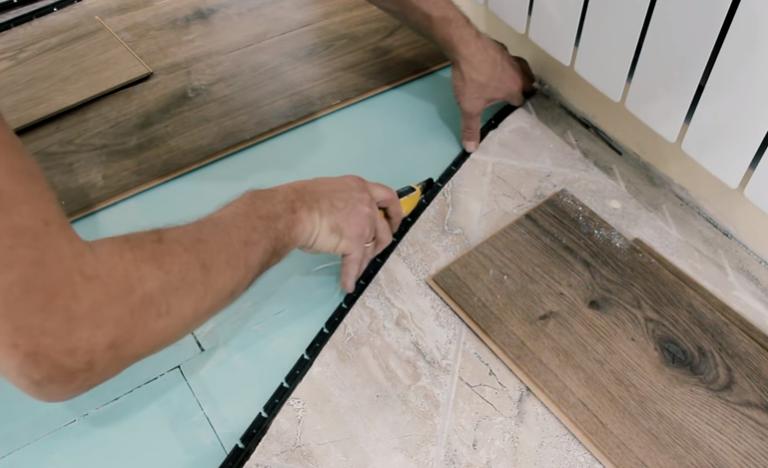 Стыковочный профиль для плитки и ламината: установка своими руками