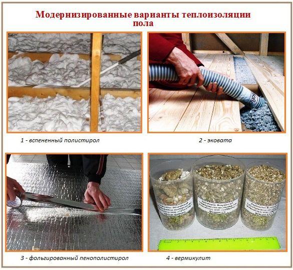 Утепление пола в деревянном доме своими руками - инструкция!