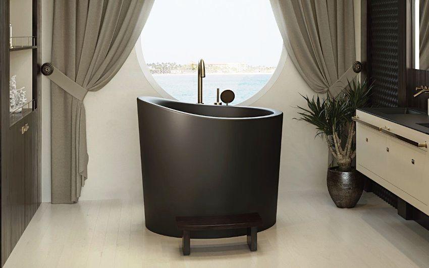 Ванна сидячая: преимущества компактной сантехники