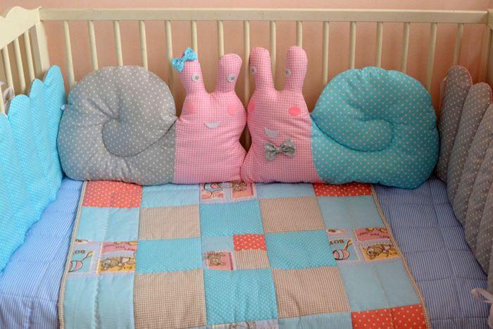 Бортики в кроватку для новорождённых: фото готовых комплектов