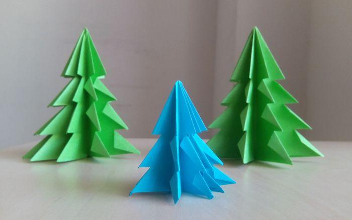 🎄 Объёмные ёлки на Новый год из бумаги и картона: как сделать легко и просто