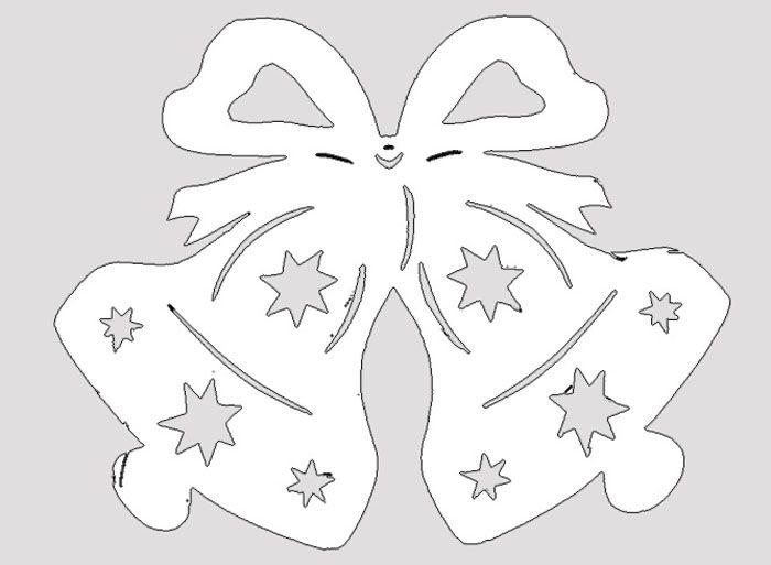 ❄ Вытынанки к новому году: шаблоны, технология вырезания трафаретов