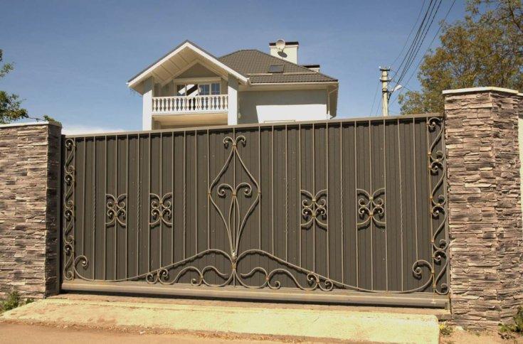 120 фото как построить откатные ворота своими руками