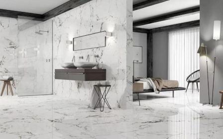 Белый керамогранит для оформления интерьера, свойства