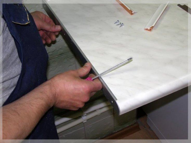 Делаем столешницу для кухни своими руками