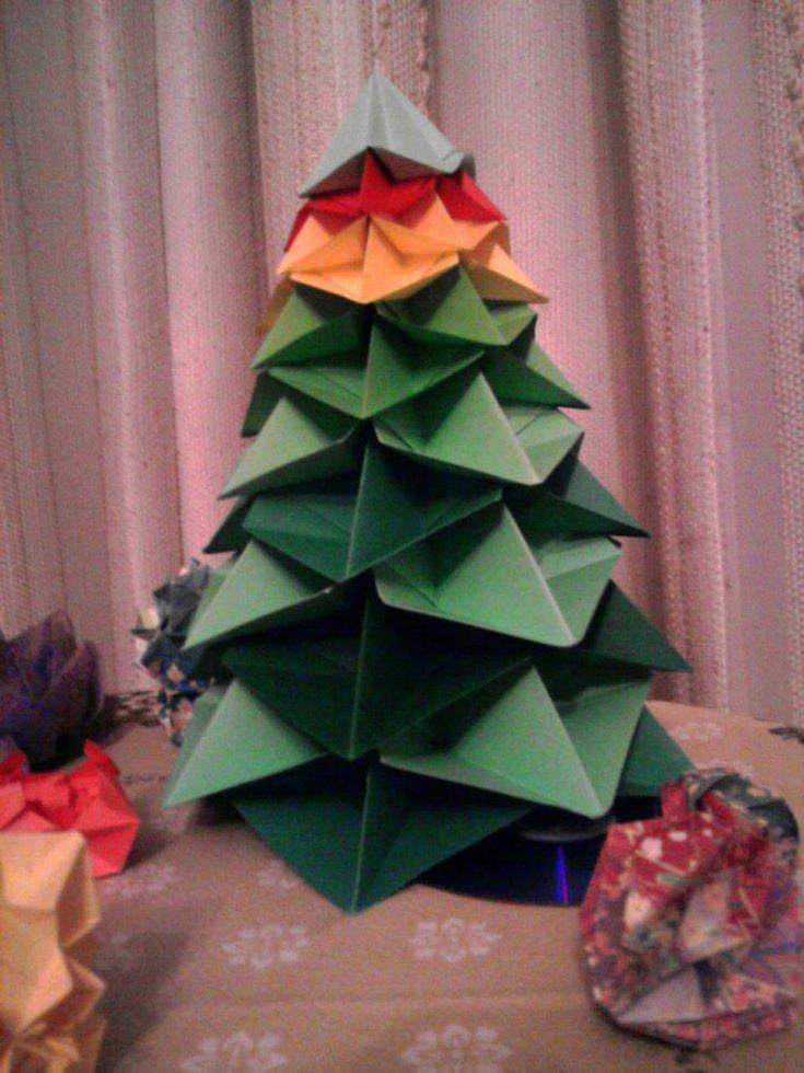 Елочка оригами из бумаги - 120 фото с подробными инструкциями!