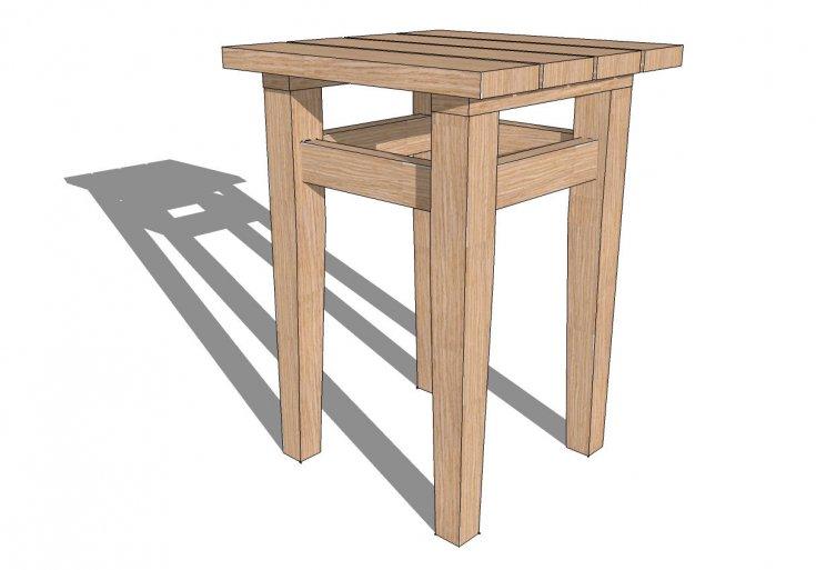 Инструкция, как сделать табурет (табуретку) своими руками