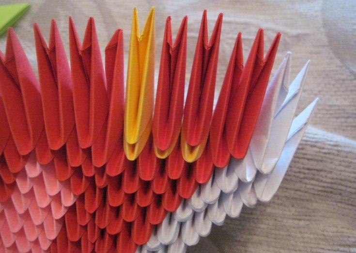 Изготовление сердца из бумаги в технике оригами