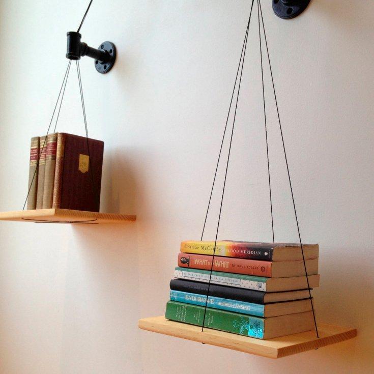 Как сделать полки для книг своими руками