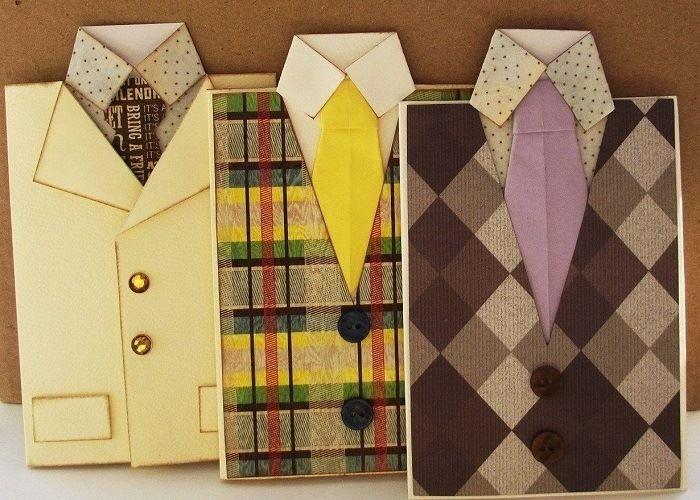 Как сложить оригами рубашку с галстуком: пошаговый мастер-класс