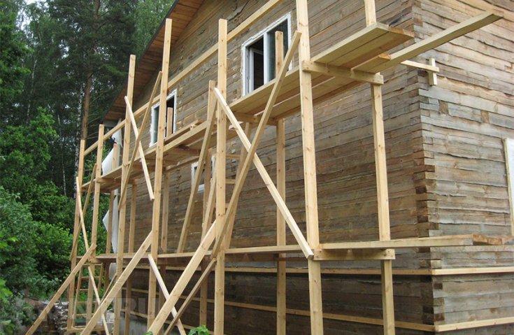 Лучшие идеи строительных лесов - 130 фото основных типов и нюансы постройки лесов