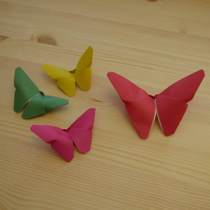 Оригами из бумаги бабочка, как сделать своими руками