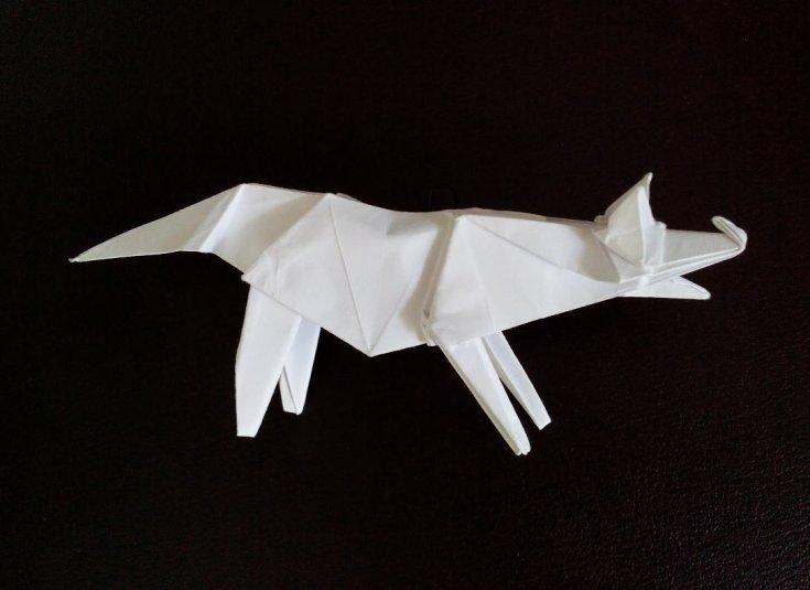 Оригами лиса из бумаги своими руками
