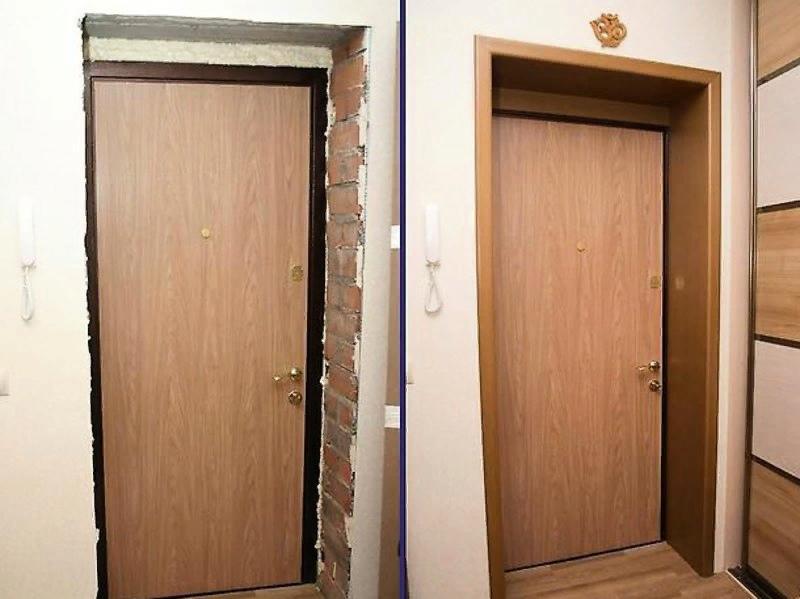 Особенности обустройства откосов входных и межкомнатных дверей