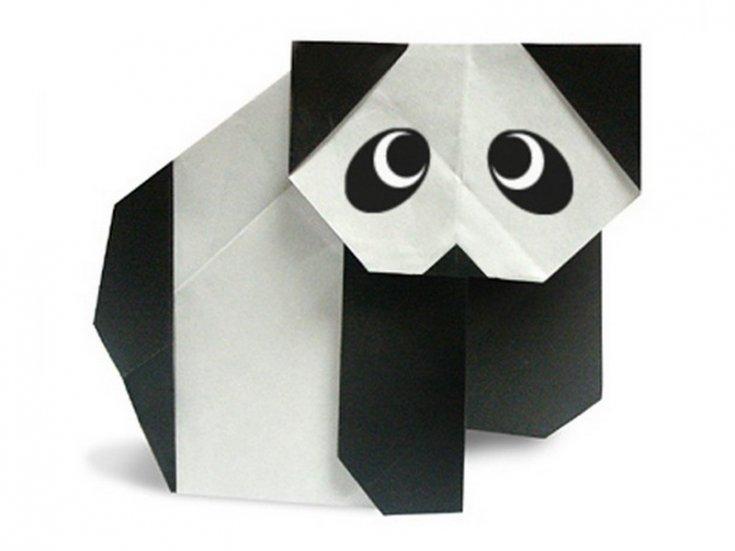 Панда оригами из бумаги: создаем панду в технике оригами с фото