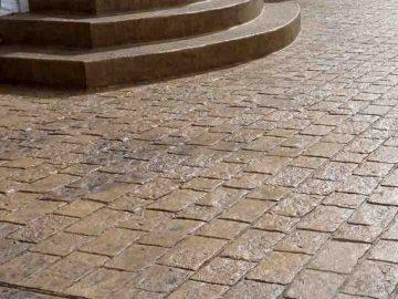 Печатный бетон для ступеней и лестницы