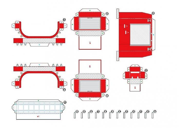 пошаговая инструкция + мастер класс по созданию машинки из бумаги