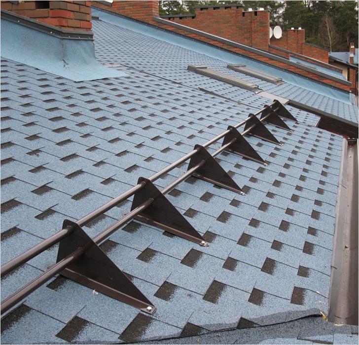Снегозадержатели на крышу: виды, типы, характеристики (фото, видео)