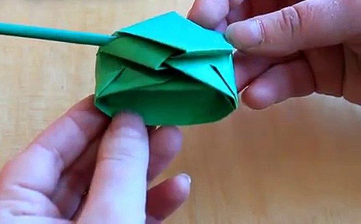 Танк из бумаги оригами своими руками