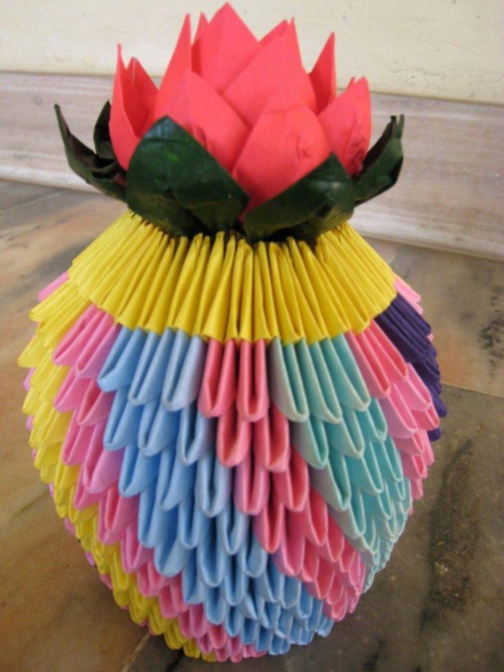 Ваза оригами из модулей - обзор лучших вариантов по созданию красивого оригами своими руками (120 фото)