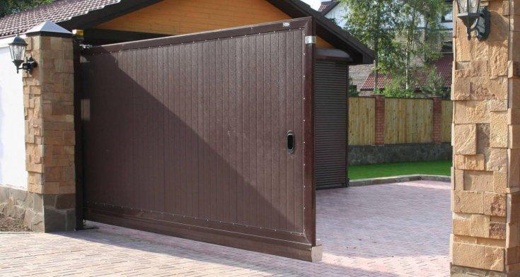 Ворота в гараж своими руками