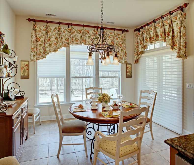 Занавески на кухню - фото лучших идей для сочетания и дизайна